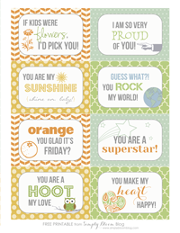 Lunchie Love Notes {Printable}