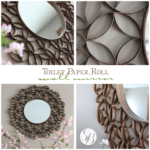 Toilet paper roll mirror wall art simply bloom - Deco avec rouleau de papier toilette ...
